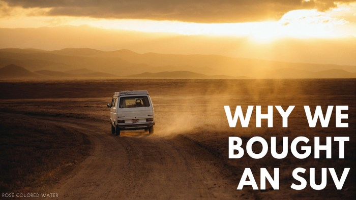 Why We Bought an SUV