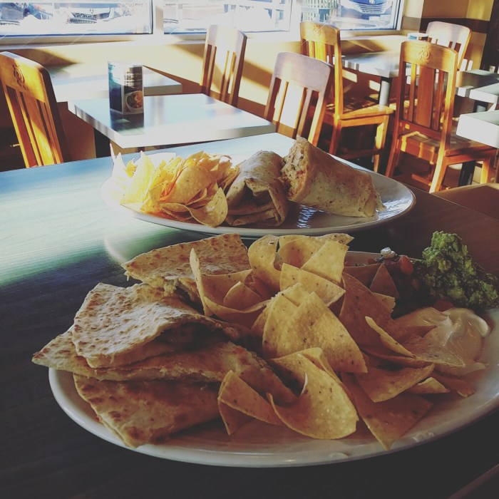 Shrimp Quesadilla and Pacific Mahi Mahi Burrito - Rubio's in Denver, CO