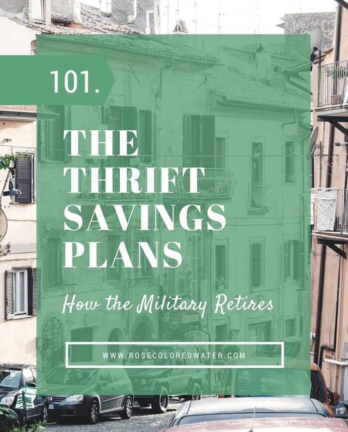 The Thrift Savings Plan is the government's version of a #401k. Government employees like #military members and postal workers can use it to #invest and build their #retirement. | Rose Colored Water #AirForce