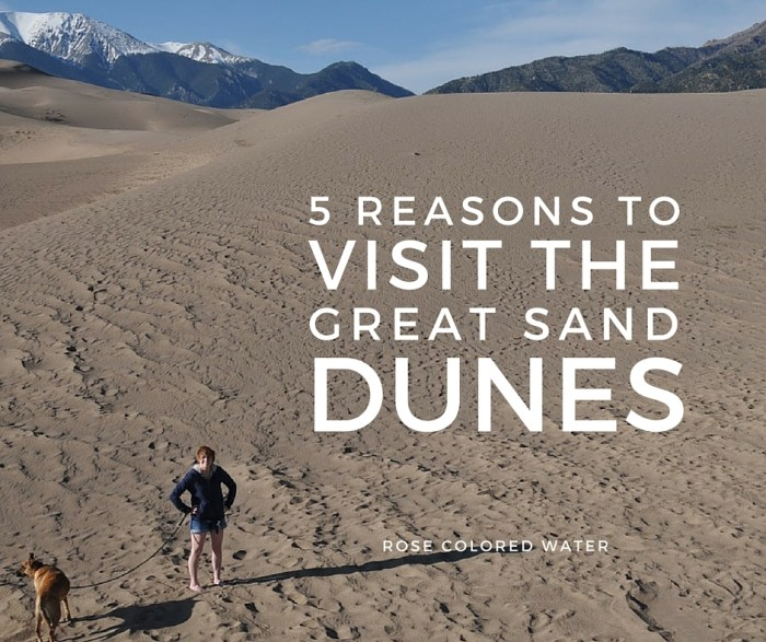 5 Reasons to Visit the Great Sand Dunes #Colorado #vacation #travel #cheap | Rose Colored Water