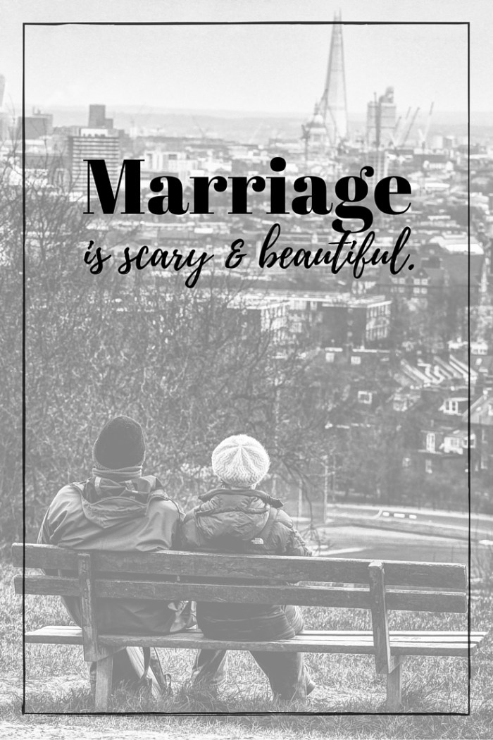 Marriage is scary & beautiful. Protect it with everything you have. #relationships #marriage | Rose Colored Water