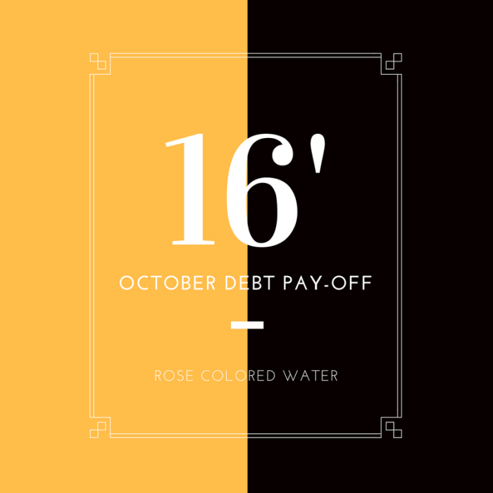 October 2016 Debt PayOff Report #money #finance | Rose Colored Water