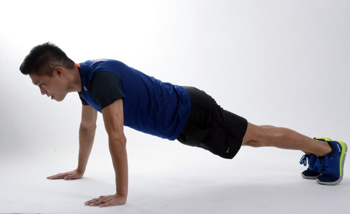 Start getting fit with push-ups.   Rose Colored Water