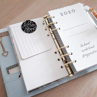 S'organiser en 2020 : mon agenda à imprimer