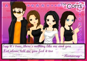 The Corrs animation, The Corrs cute, the corrs kartun