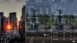 Yahoo Weather aplikasi cuaca android