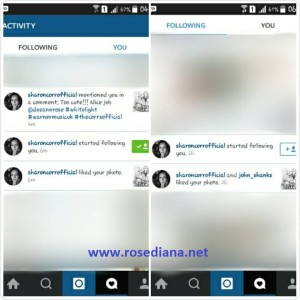 @sharoncorrofficial started following you dari instagram