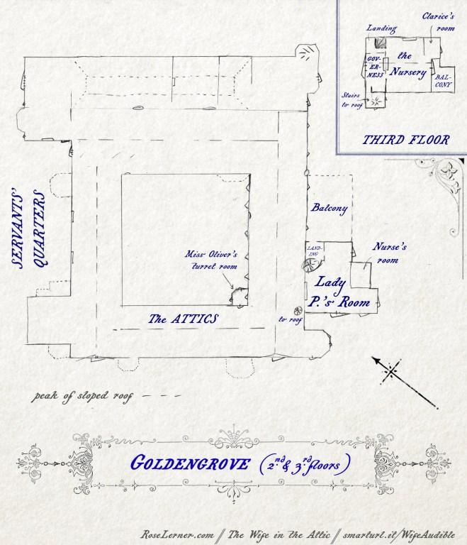 Floor plan of Goldengrove: 2nd and 3rd floors