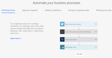 Microsoft Flow: Automate Business Process