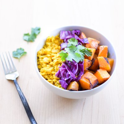 Curried Lentils and Roasted Butternut Squash Salad