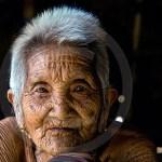 Laos village Grandma portrait