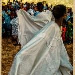 Moors dressed in their voluminous gandouras celebrate the end of Ramadan by dancing