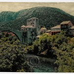 original bridge at Mostar, in the old Yugoslavia