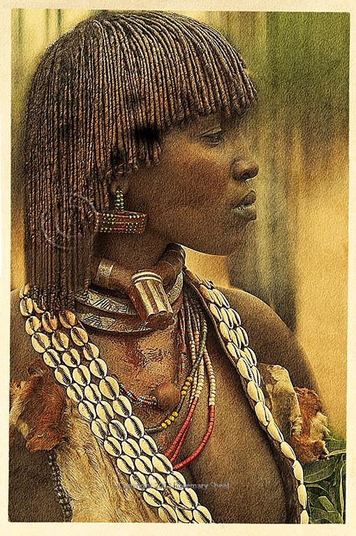 Ethiopia Portrait Of Hamar Woman Travel Photographs By