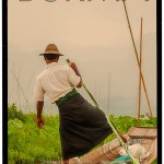 Burma Poster with Inle Lake Leg Rower