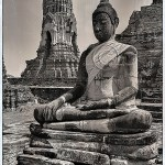 statue of Buddha at Ayutthaya Thailand