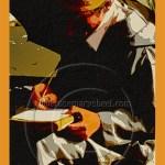 scribe writing under an umbrella in Marakesh's Jemaa El Fna