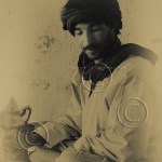 Berber man preparing tea