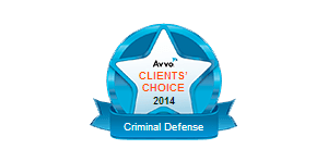 Avvo Clients' Choice 2014 Criminal Defense