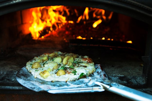 Image result for wood oven pizza rosendals