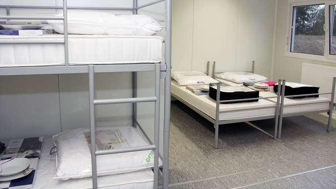 In einem solchen Vier-Bett-Zimmern sind die Männer untergebracht. Am Freitagabend eskalierte ein Streit.