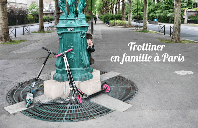 Trottinette en famille Paris