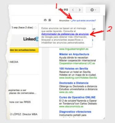 Por qué vemos estos anuncios en Gmail