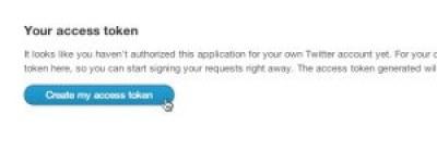 Captura de pantalla del botón para crear las credenciales oAuth