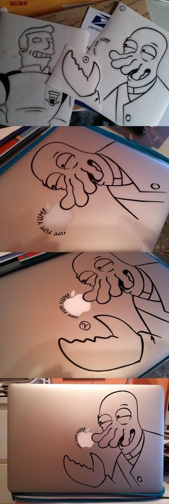 Vinilos personalizados de Zoidberg y Zapp (Futurama)