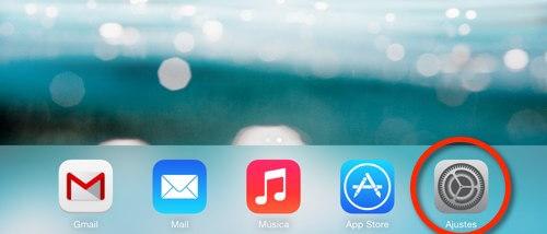 Captura del escritorio en iOS, Ajustes