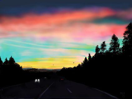 A25 sunset