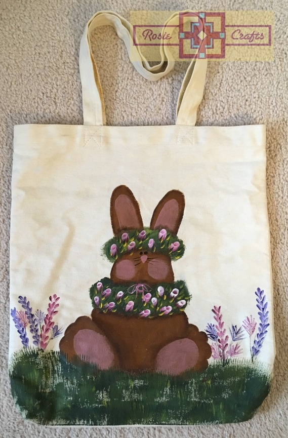 Rosie Crafts Painted Bunny Tote Bag