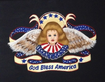 Rosie Crafts God Bless America Acrylic Painting