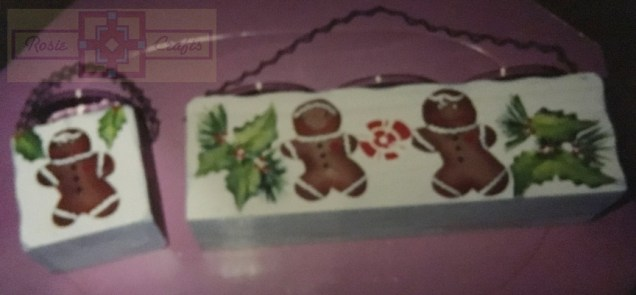 Rose Crafts Painted Christmas Gingerman Votive Candles