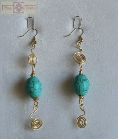 Artisan Tribes Turquoise Bead Earrings