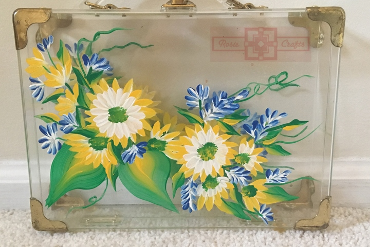 Rosie Crafts Painted Flower Acrylic Supply Box
