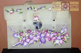 Rosie Crafts Floral Painted Purse