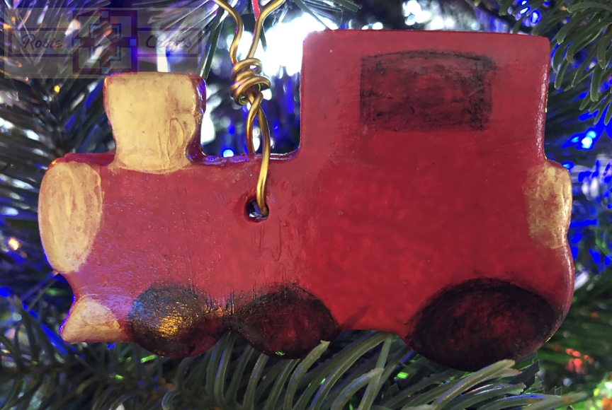 Rosie Crafts Christmas Train Ornament