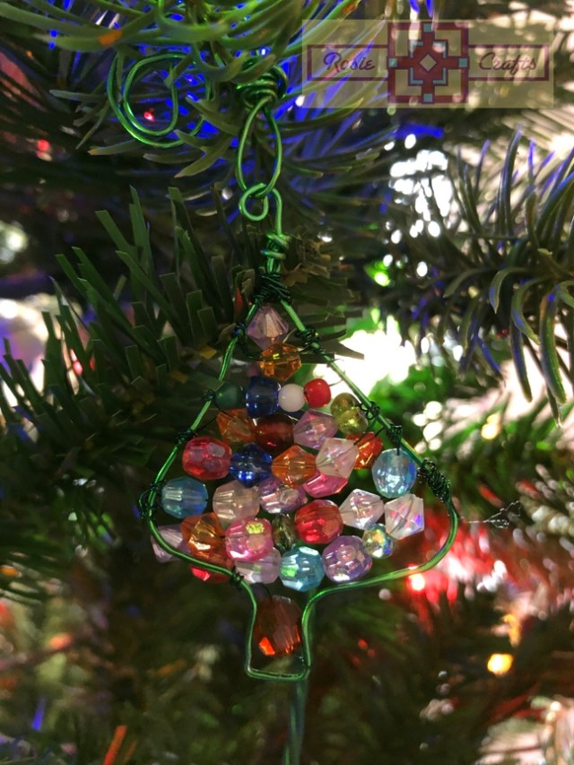 Rosie Crafts Beaded Christmas Tree Ornament