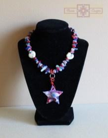 Rosie Crafts Patriotic Americana Artisan Necklace