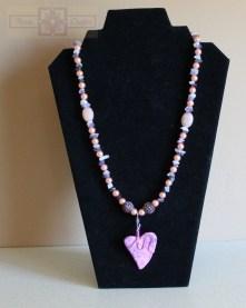 Rosie Crafts Sweet Heart Artisan Necklace