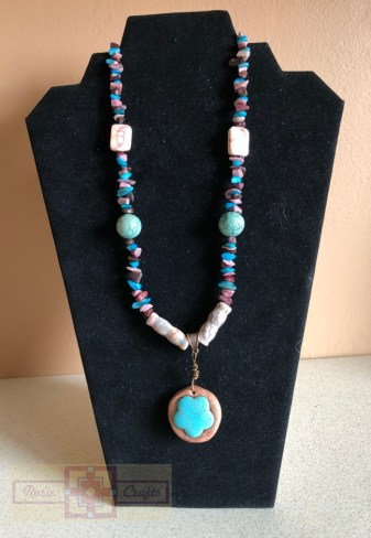 Artisan Tribes Polymer Clay Flower Necklace