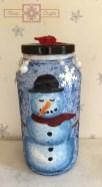 Rosie Crafts Painted Snowman Jar