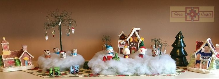 Rosie Crafts Christmas Village Scene