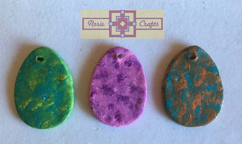 Rosie Crafts Polymer Clay Easter Egg Pendants