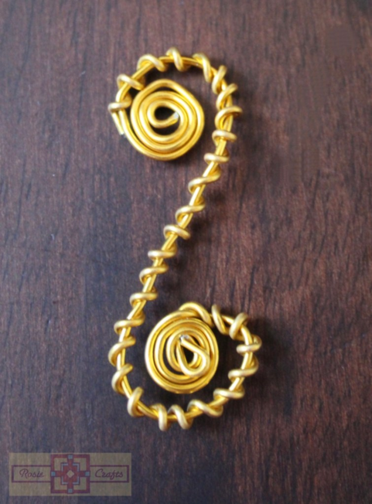 Rosie Crafts Yellow Wire Wrapped Design