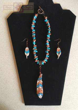 Artisan Tribes Polymer Clay Feather Jewelry Set