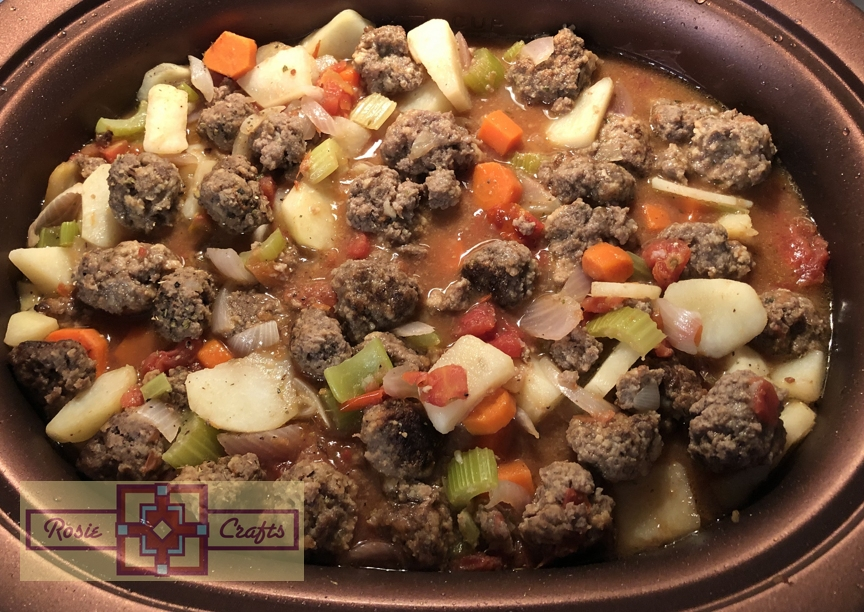 Rosie Crafts Meatball Vegetable Soup