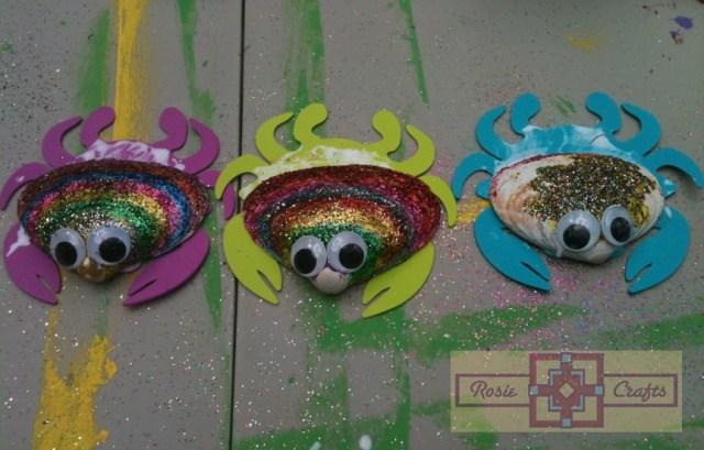 Rosie Crafts Kids Summer Seashell Crab Craft