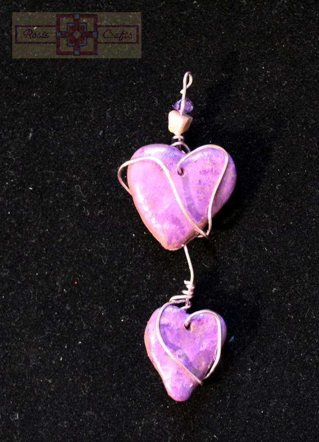 Rosie Crafts Double Heart Artisan Pendant
